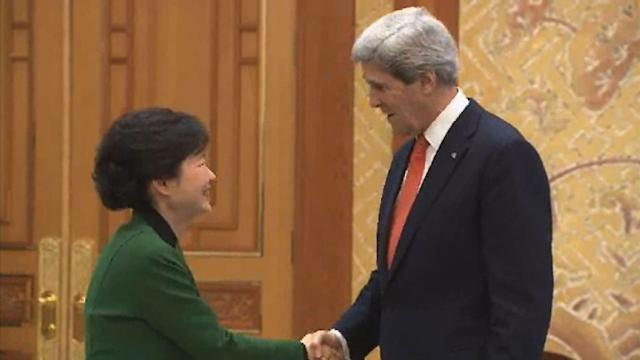 Tensions high as Kerry arrives in S. Korea