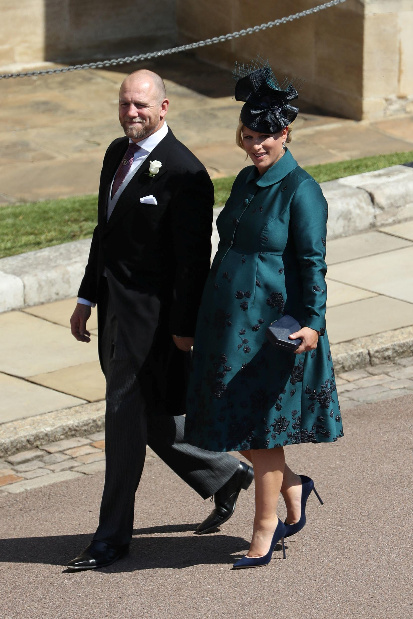 MIke Tindall and Zara Tindall arrive at St George's Chapel in Windsor Castle for the wedding of Prince Harry and Meghan Markle.  Saturday May 19, 2018. Andrew Milligan/Pool via REUTERS