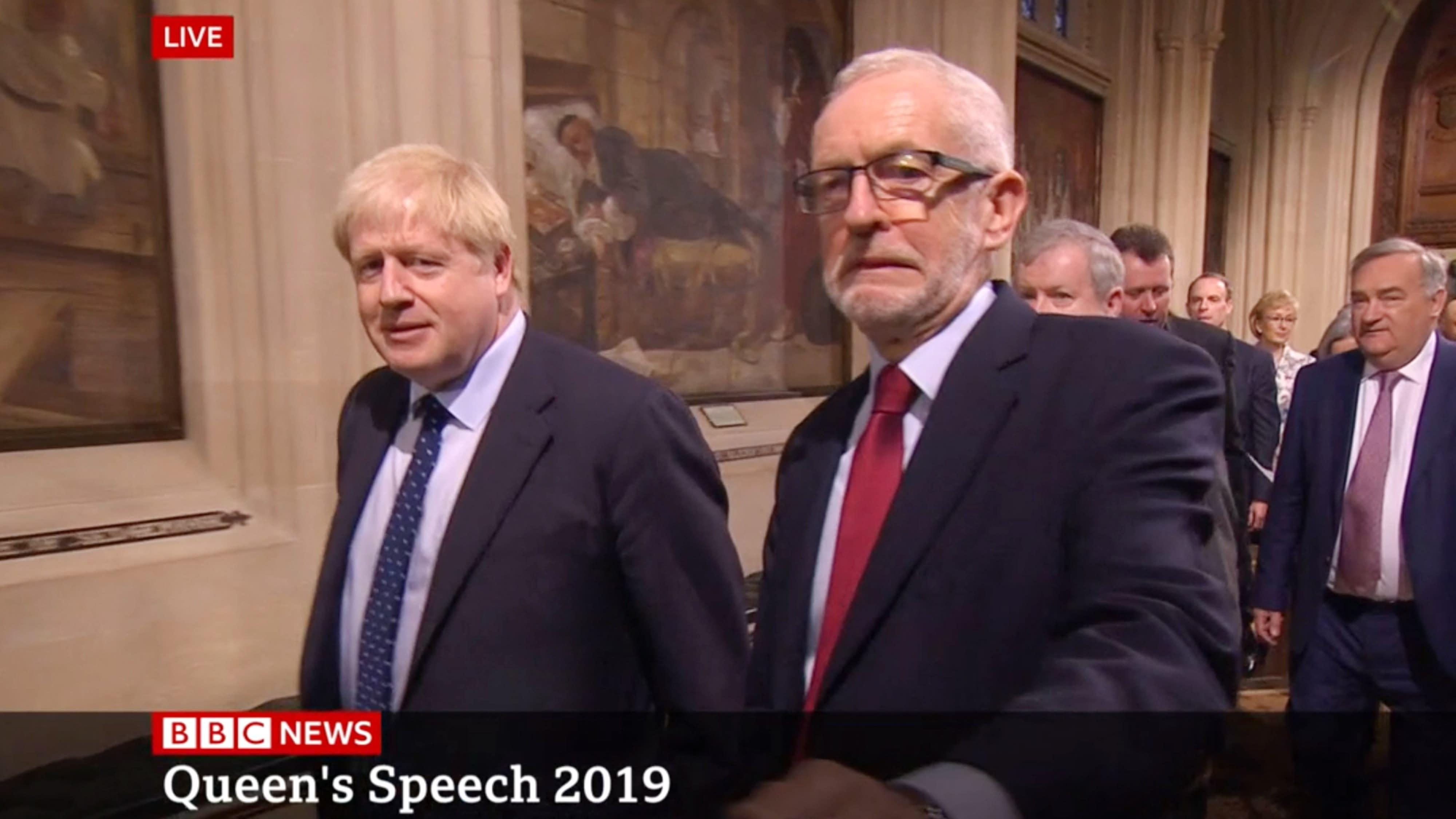 Jeremy Corbyn grimace caught on camera ahead of Queen's Speech