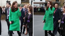 The internet goes wild over 'angry face' in Kate's designer dress