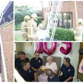 This 105-year-old lady celebrated her birthday with a group of sexy firefighters and her party was lit