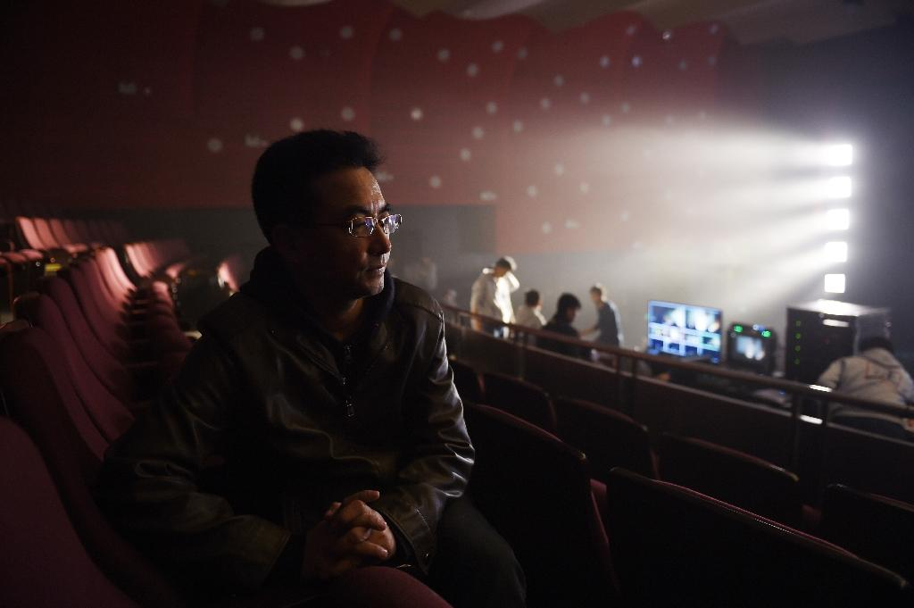 "Tibetan filmmaker Pema Tseden, photographed November 12, 2015 in the Beijing Film Academy theater, will see his film ""Tharlo"" in competition at Taiwan's Golden Horse festival"