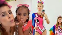 Famosas mostram que crianças também podem curtir o Carnaval