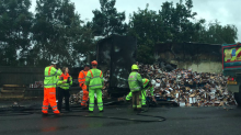 Meltdown on the A2 as lorry carrying CHOCOLATE goes up in flames