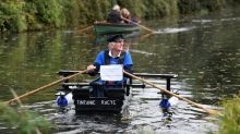 UK army veteran 'Major Mick' attempts to row 100 miles in homemade boat