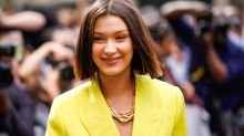 Bella Hadid's yellow suit is perfect
