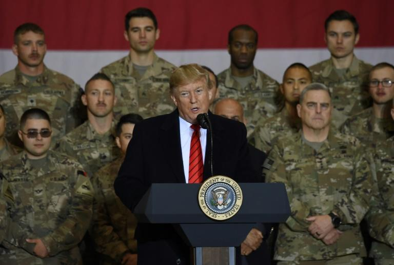 President Donald Trump made a surprise Thanksgiving day visit to US troops in Afghanistan last year