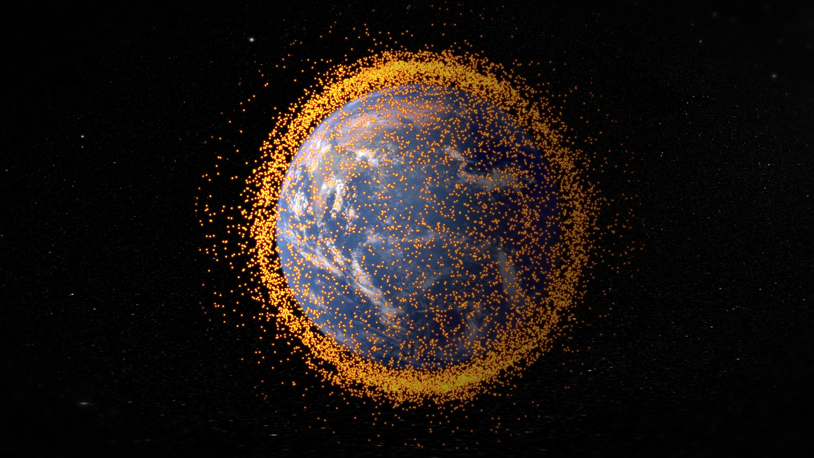 Initially the term space debris referred to the natural debris found in the solar system asteroids comets and meteoroids However with the 1979 beginning of the