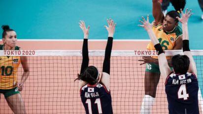 Seleção feminina de vôlei estreia com vitória sobre a Coreia do Sul nos Jogos Olímpicos de Tóquio