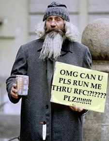 Charity for beggars, or lack thereof