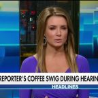 Reporter spotted chugging coffee during impeachment hearing goes viral