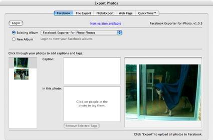 Facebook Exporter updated for iPhoto '08