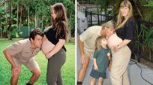 Bindi Irwin and Chandler Powell recreate iconic pregnancy photo