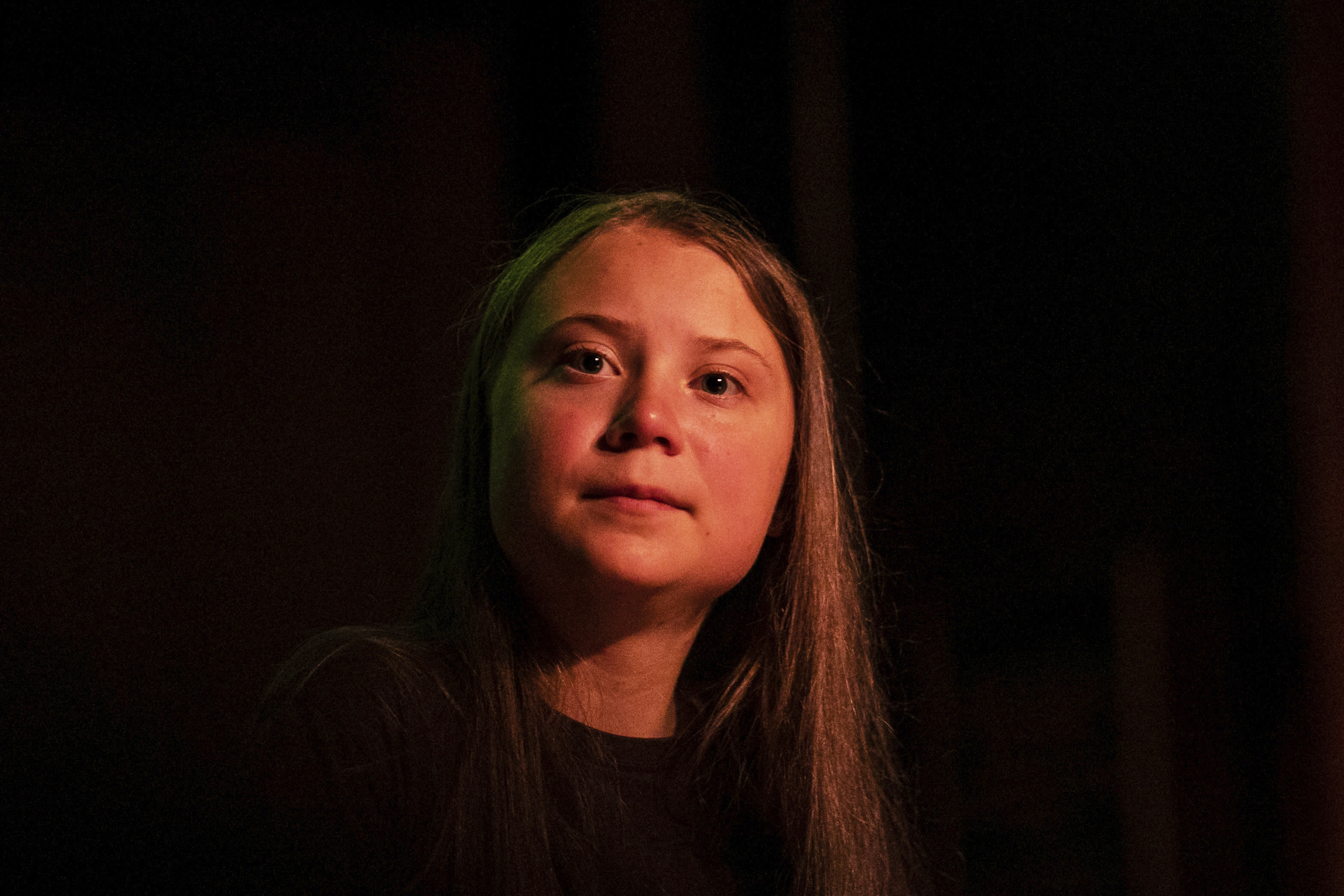"""FILE - In this Monday, Sept. 9, 2019 file photo, Greta Thunberg pauses as she speaks at the Society for Ethical Culture in New York. """"No _ Church of Sweden has (obviously) not proclaimed Greta Thunberg as successor of Jesus Christ,"""" Martin Larsson, a spokesman with the Church of Sweden, told the The Associated Press in an email. However, in 2018, one of its parishes did, tweeting in Swedish: """"Announcement! Jesus of Nazareth has now assigned one of his successors, namely Greta Thunberg."""" The claim circulated on social media after Thunberg, who is Swedish, led worldwide demonstrations to highlight climate change and addressed the Climate Action Summit at the United Nations in September 2019. (AP Photo/Jeenah Moon)"""
