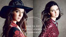 標誌的濃眉是這樣畫成的!讓 Kendall Jenner 親自向你傳授她畫眉的秘訣!
