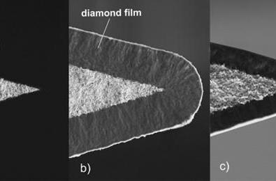 Diamaze diamond-tipped razor blades can literally split hairs (video)
