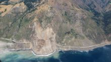 Massive slide buries stretch of iconic California highway