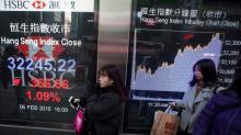La Bolsa de Hong Kong recupera el brío animada por el sector inmobiliario
