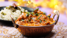 Butter Masala Chicken with Pilaf