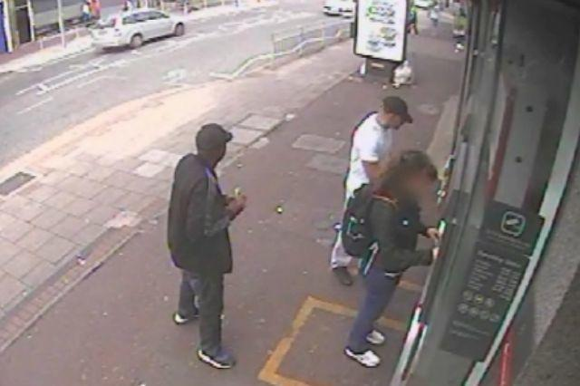 """Last year the Metropolitan Police released CCTV footage of a woman who had £250 stolen at a cash machine in Dagenham. The scam involved two men distracting the woman at the machine, pressing the button for £250 then taking the money and running away. Read about the full story <a href=""""http://money.aol.co.uk/2015/09/15/watch-latest-atm-scam-in-action/"""">here</a>."""