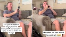 Wife divides opinion with 'hilarious' Covid prank on husband