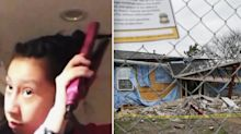 Chilling video show's final moments of 12-year-old girl's life before she dies in explosion