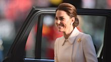 Duchess of Cambridge makes debut at Beating Retreat to take salute