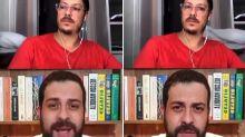 Fabio Porchat revela truque para evitar nudes da mulher em lives