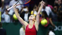 Halep, Wozniacki score WTA Finals wins