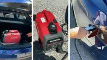 "Anand Mahindra Tweets Video of Tesla Being Charged by Honda Generator, Calls ""Jugaad"" Hilarious"