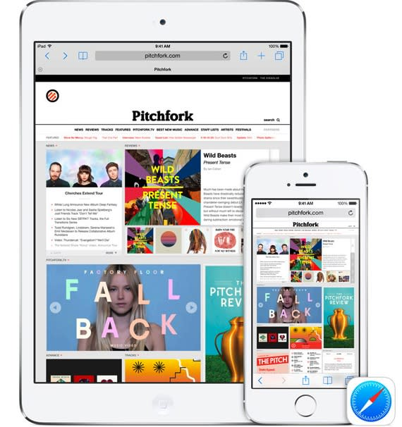 The new Handoff feature in iOS 8 and OS X Yosemite in action
