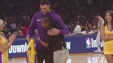 14 years later, Lakers' Larry Nance Jr. meets his pen pal from the U.S. Army