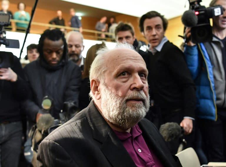 L'ex-prêtre Bernard Preynat, jugé à Lyon pour de multiples agressions sexuelles. Photo prise le 13 janvier 2020
