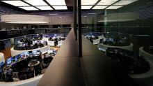 Global stocks gain on global growth outlook, euro falls
