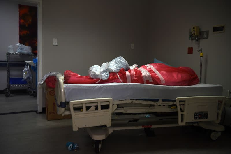 Coronavirus disease (COVID-19) patients are treated in Houston