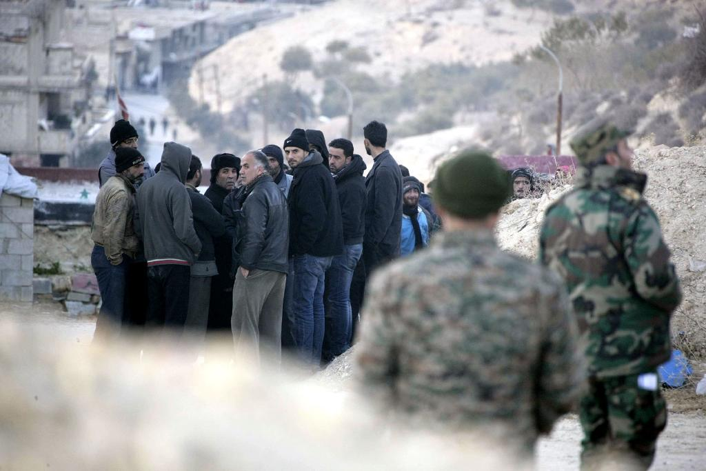 The Syrian army said on Sunday that it had recaptured a flashpoint area from rebels near Damascus that supplies the capital's water