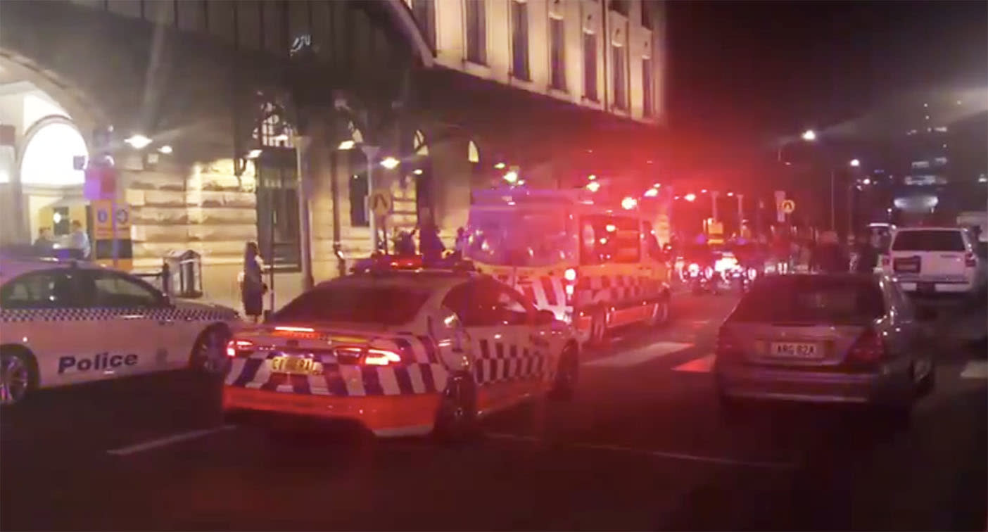 Policeman stabbed in the back at Sydney's Central Station