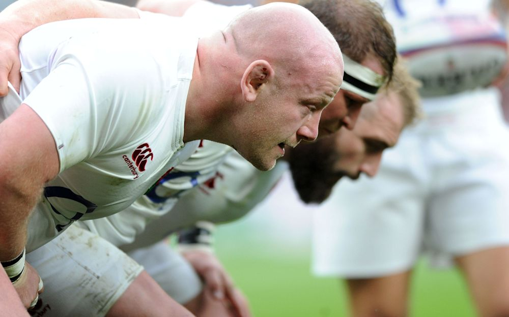 Dan Cole, Dylan Hartley and Joe Marler - Copyright (c) 2017 Rex Features. No use without permission.
