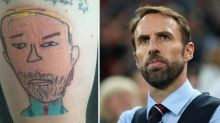 Why dad got boy's drawing of England football manager as tattoo