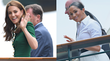 Kate Middleton and Meghan Markle arrive at Wimbledon separately