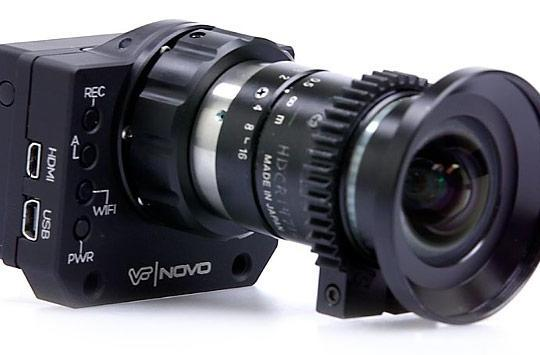 Novo is a modified GoPro Hero3 that accepts C-Mount lenses, won't be available for sale