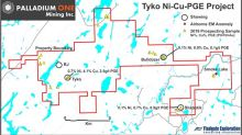 Palladium One Reports Prospecting Samples of up to 0.74% Ni, 4.09% Cu and 2.51g/t PGE on the Tyko Ni-Cu-PGE Property, Canada