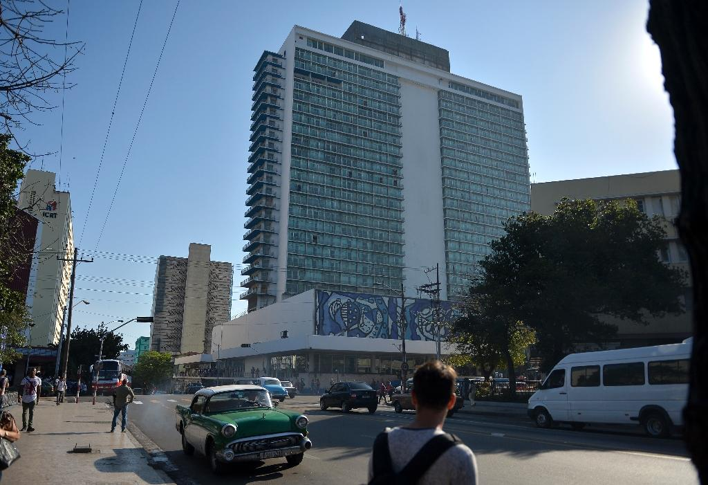 The Habana Libre Hotel, formerly the Havana Hilton, could face lawsuits under a newly implemented US law (AFP Photo/YAMIL LAGE)