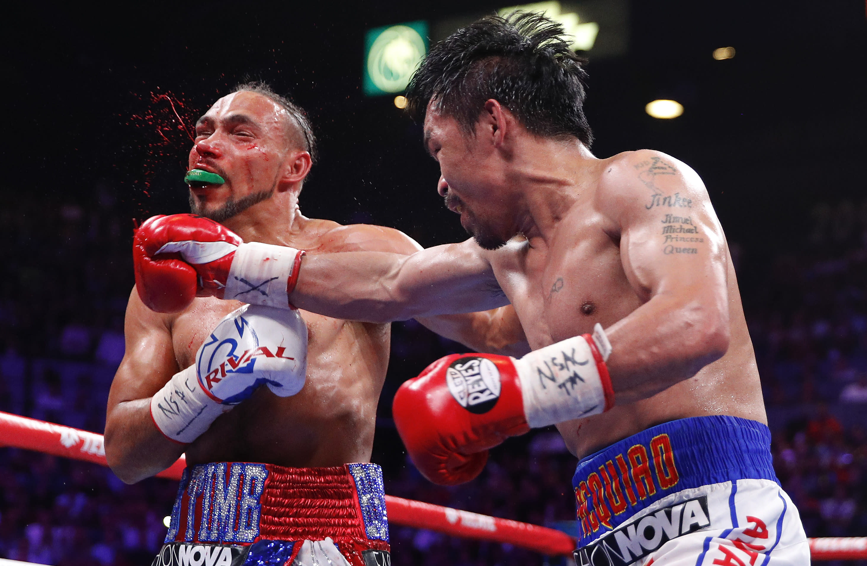 Manny Pacquiao, 40, earns split decision over Keith Thurman