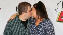 Patton Oswalt and Fiancée Meredith Salenger Joke About Red Carpet PDA: 'Get a Room'