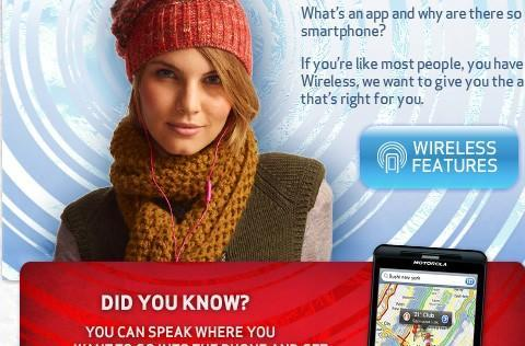 Verizon sucks at Photoshop: confuses the Droid X for an iPhone