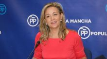 La portavoz del PP en Castilla-La Mancha ilustra un tuit sobre el PSOE con una foto de ETA