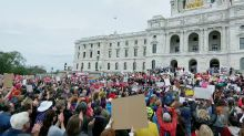 Hundreds Rally Against Abortion Bans in Front of Minnesota's Capitol Building