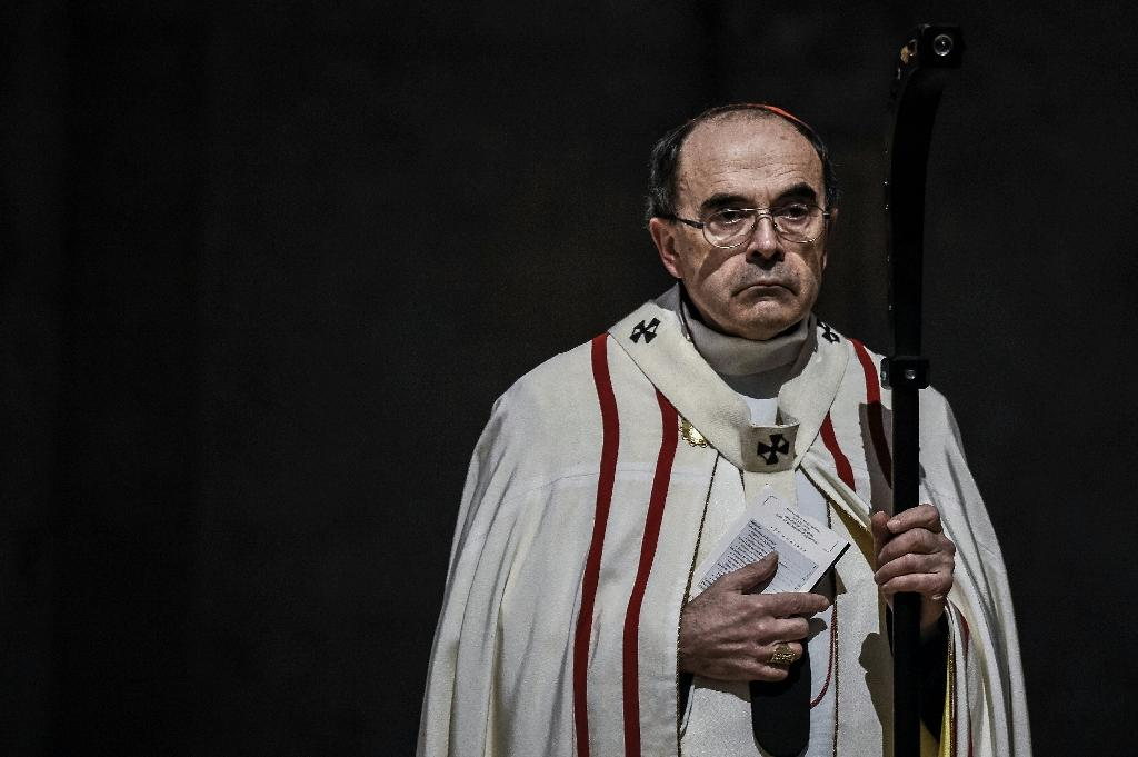 French Cardinal Philippe Barbarin, the under-fire Archbishop of Lyon suspected of covering up for a paedophile priest, pictured in April (AFP Photo/Jeff Pachoud)