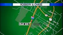 Robbery, chase leads to crash on I-295
